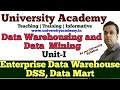 L2: Data Warehousing and Data Mining |Enterprise data Warehousing|Data mart|Warehousing Terminology