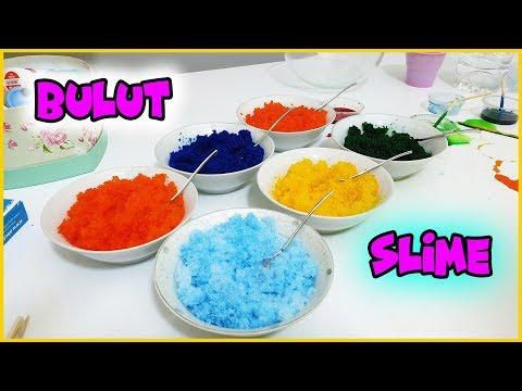 Yapay Kar ile Çok Renkli Bulut Slime Yaptık - Konsept Slime Vak Vak TV