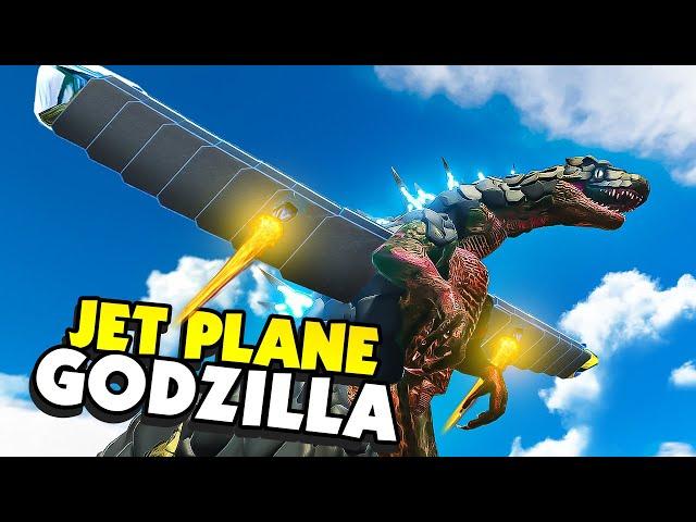 Building GODZILLA Into a JET PLANE Of Destruction - Animal Revolt Battle Simulator