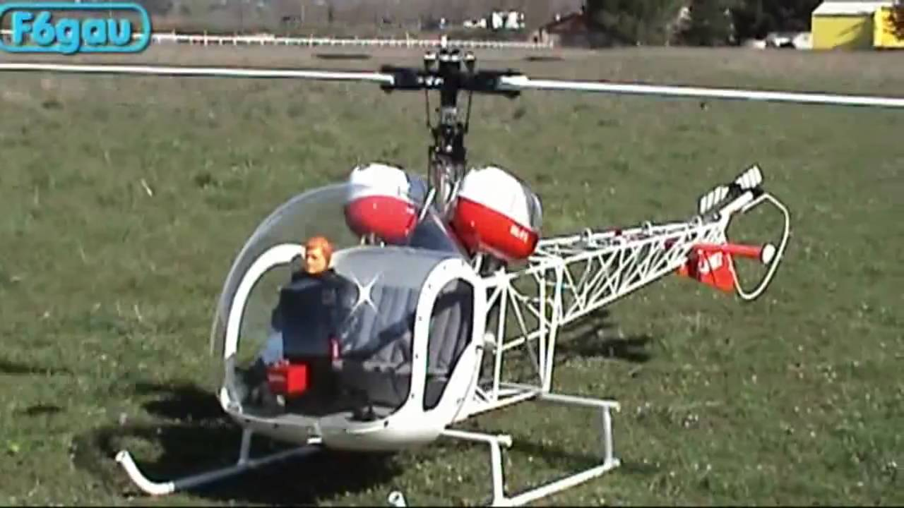 Helicoptere Radiocommande Exterieur Geant Helicoptere Thermique Bell 47 G3 Vario