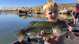 Gunlock Reservoir in Utah Bass Fishing in Fall