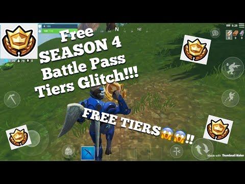 Fortnite Season 4 Free Battle Pass Tiers Glitch!!!