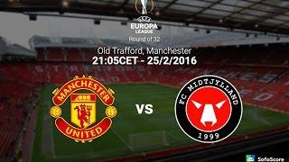 Manchester United Vs Midtjylland 5:1 Full Match Europa League