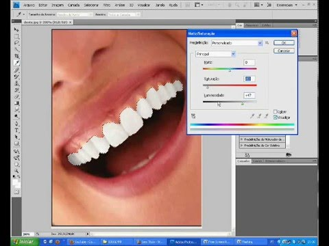 Deixando Os Dentes Branco No Photoshop Cs4 Youtube