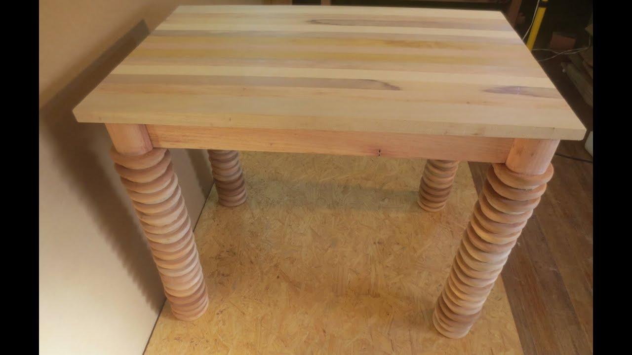 Hagalo usted mismo mesa de madera reciclando sobras for Mesa cocina rustica