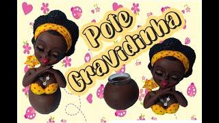 Gambar cover Gravidinha no pote em biscuit