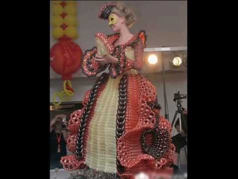 Dresses made out of balloons, costumes clothes, bubble dresses, Latest fashion balloon dress photo