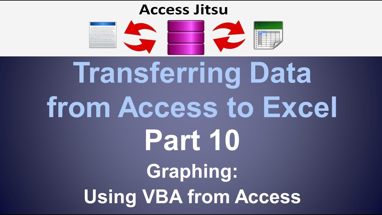 Exporting data from access to excel part 10 graphing from for Export access data to excel template