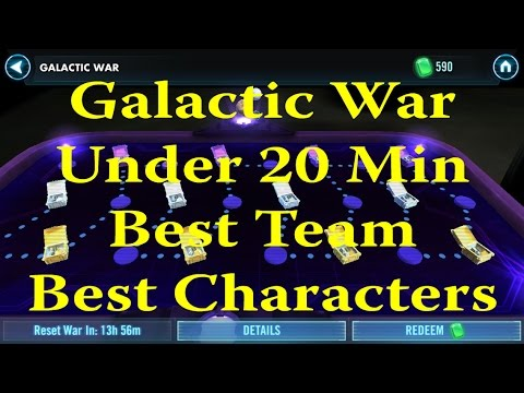 Star Wars: Galaxy Of Heroes - Galactic War Under 20min Best Team And Characters