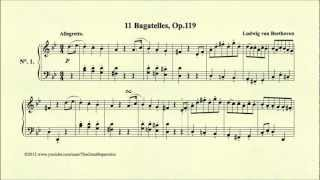 Play Bagatelles (11) For Piano, Op. 119