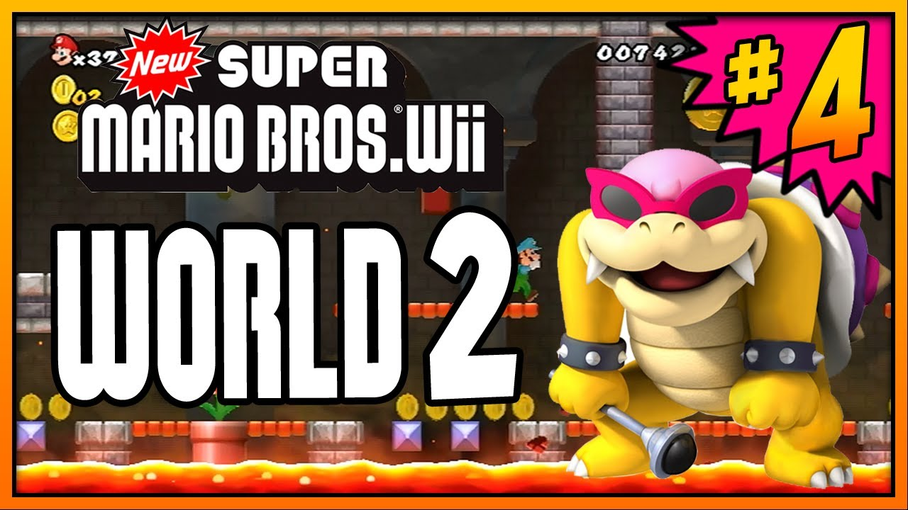 New Super Mario Bros Wii World 4 Part 2 Youtube Cuitan Dokter
