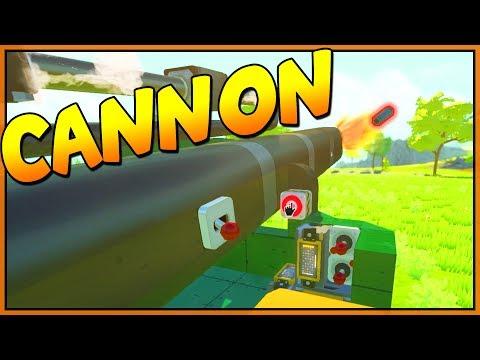 JAMMING CANNON - Scrap Mechanic Piston Builds - Let's Play Scrap Mechanic Gameplay