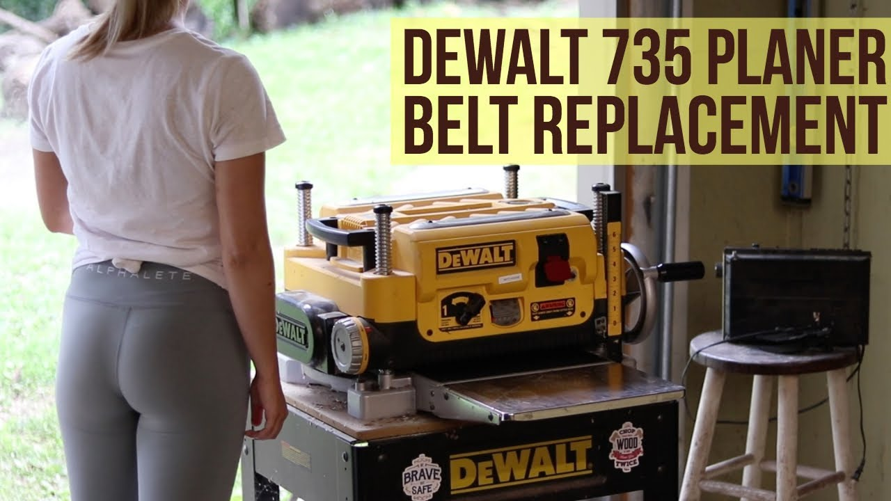 How To Replace The Belt On A Dewalt Dw735 Planer