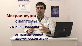Микроинсульт симптомы, отличия от транзиторной ишемической атаки