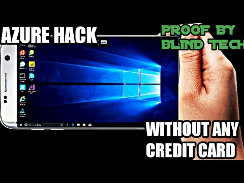 [AZURE HACK]WITHOUT ANY CREDIT CARD CREATE YOUR VIRTUAL MACHINE AND ENJOY PROOF BY BLIND TECH