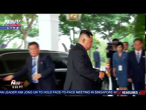 KIM JONG UN ARRIVAL: For North Korea summit with President Trump in Singapore (FNN)