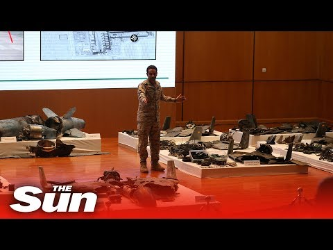 Saudi Defence Ministry shows drone wreckage and blames Iran for oil facility attacks