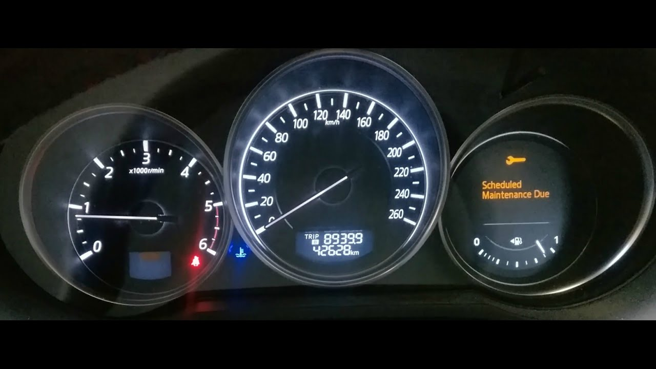 Mazda 6 Schedule Maintenance Due Light Reset How To
