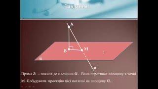 Теорема про три перпендикуляри
