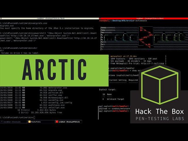 HackTheBox - Arctic - Walkthrough