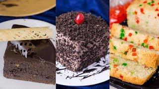 3 Types Of Cake Recipe | केक रेसिपीज | Dessert Recipes