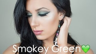 bh cosmetics emerald green smokey eye palette makeup tutorial
