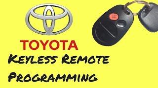 toyota keyless remote programming easy to save money