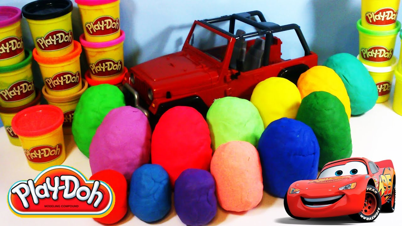13 play doh eggs cars toys unboxing small cars for kids youtube