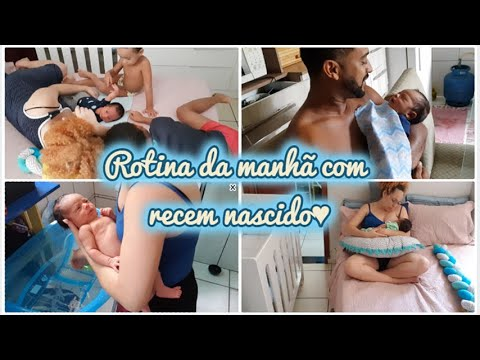 UMA  MANHÃ COM A GENTE ♥PRIMEIRO VLOG SENDO MÃE DE 3  Isaque Com 6 Dias!  #MAEDETRÊS