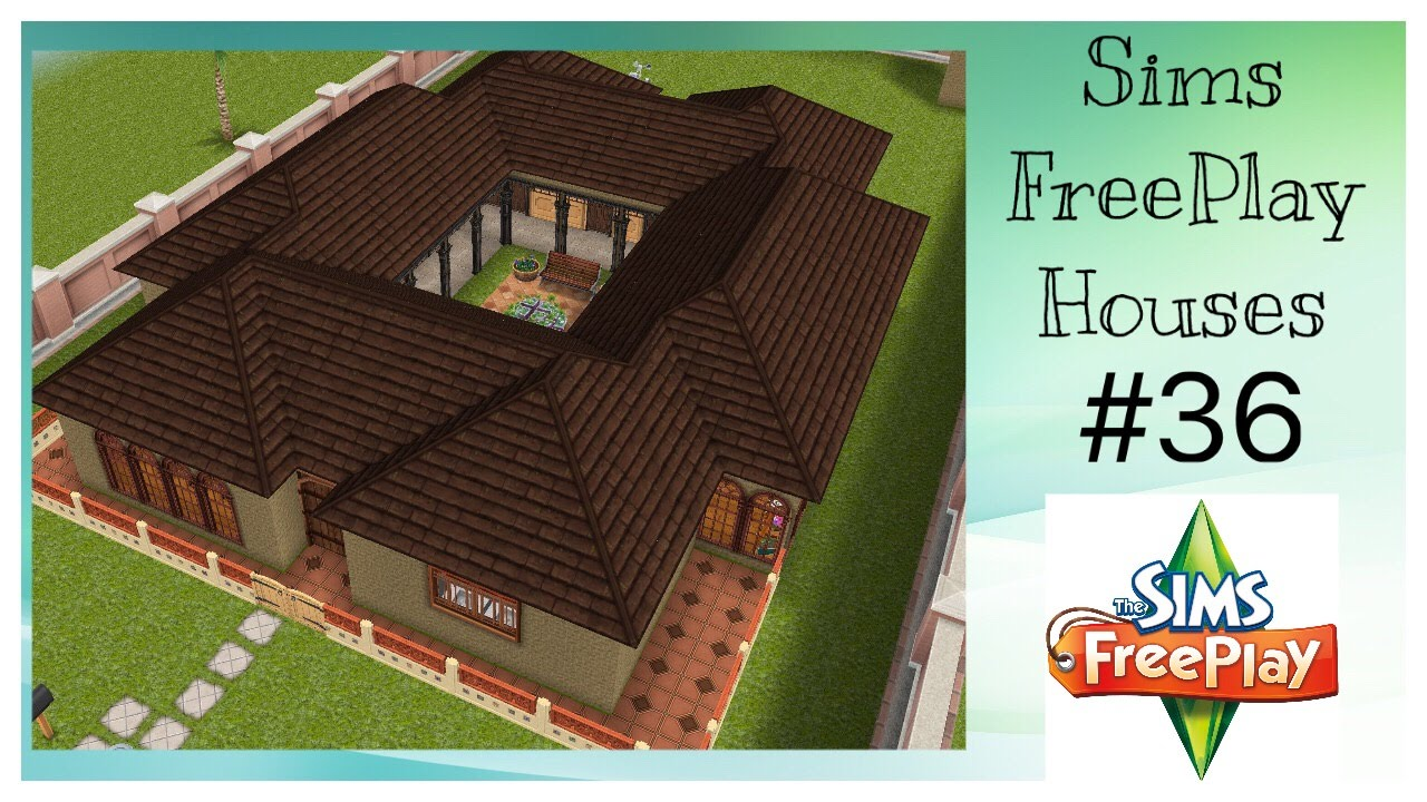 Casa de rancho sims freeplay house idea 36 youtube for Casa de diseno sims freeplay