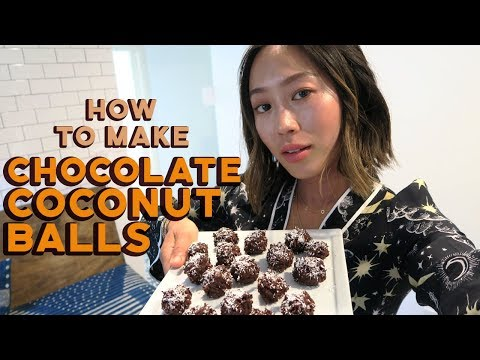 Healthy Chocolate Coconut Balls Recipe | Aimee Song