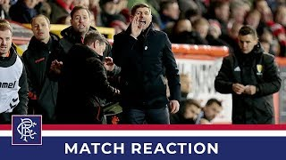 REACTION | Steven Gerrard | Aberdeen 2-2 Rangers