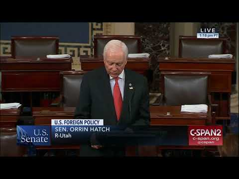 Hatch Speaks on New York Attacks & US Foreign Policy