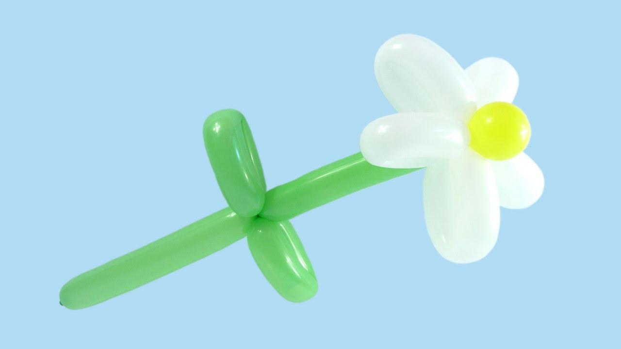 Как сделать цветок из длинных шариков фото 150