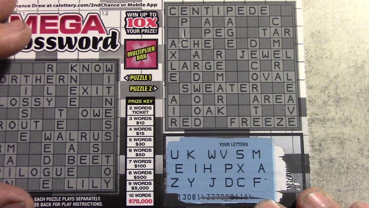 wins playing new mega crossword