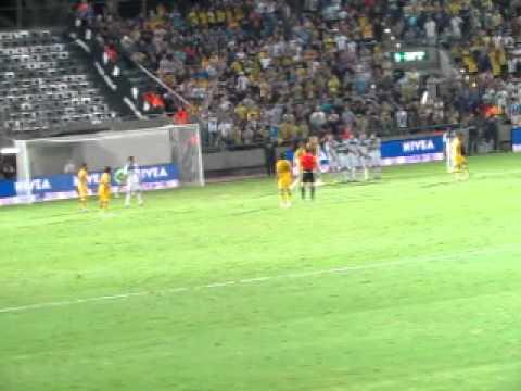 Maccabi Tel-Aviv vs Dinamo Kiev, Bloomfield Stadium, European Leage - Free Kick