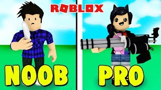 WEAPON NOOB vs ARMA PRO! -ROBLOX (Weapon Simulator)