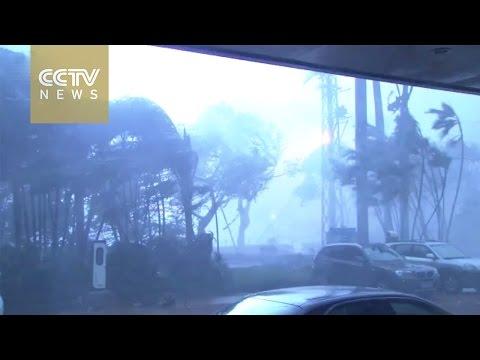 Watch: Typhoon Meranti slams Xiamen city
