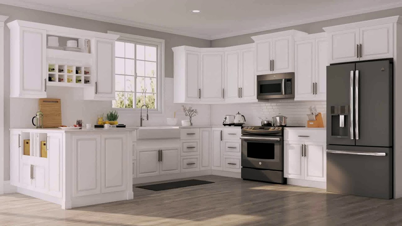 Off White Kitchen Cabinets With Gray Glaze Youtube
