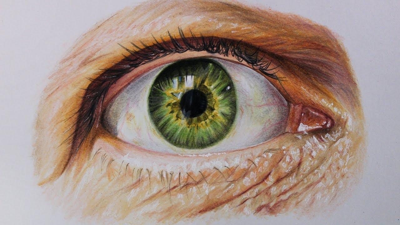 Como Dibujar Un Ojo Realista Paso Por Paso Con Lapices De Colores
