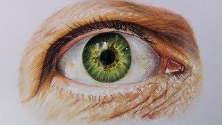 Cómo Dibujar un Ojo realista paso por paso con lápices de colores | How to draw a Realistic Eye