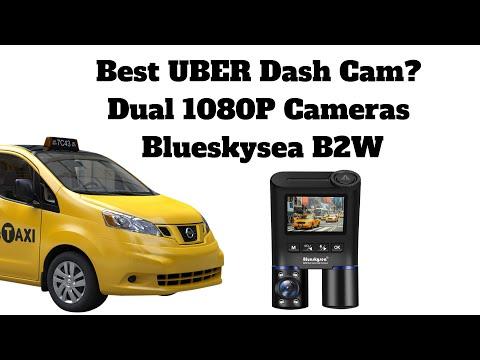 Best UBER Dash Cam - Dual 1080P Cameras - Blueskysea B2W