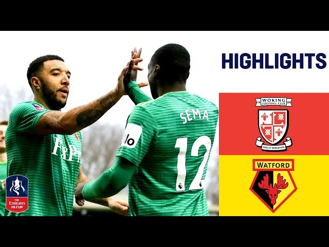 Watford Prove Too Strong For Non-League Woking | Woking 0-2 Watford | Emirates FA Cup 18/19