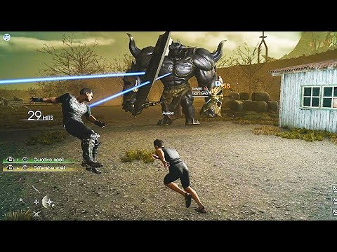 Final Fantasy 15 MULTIPLAYER Gameplay (Final Fantasy XV Comrades Expansion BETA)