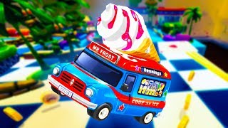 Toybox Turbos - ICE CREAM TRUCK SAVES THE DAY! - Toybox Turbos Gameplay - The New Crash Wheels Game!