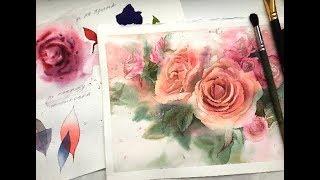 Видео мастер-класс «Цветы акварелью» [обзор](Будем рисовать весенние цветы вместе с любимым художником! http://lectoroom.ru/roses Розовые розы... может показаться..., 2017-03-07T14:48:58.000Z)