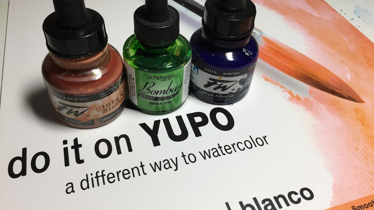 How to paint a hummingbird using acrylic inks on yupo for How to paint on paper with acrylic paints