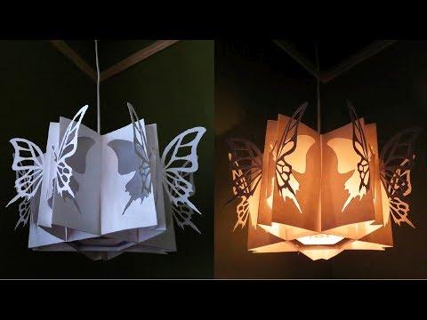 Butterfly lamp - learn how to make a butterfly lantern - EzyCraft