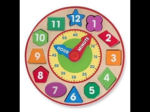 Wooden Educational Toy Melissa /& Doug Shape Sorting Clock