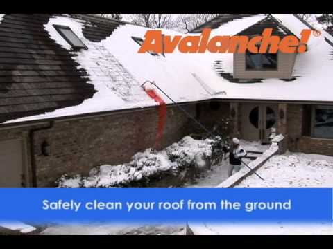 Avalanche Roof Snow Removal System Youtube